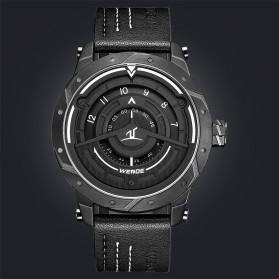 Weide Jam Tangan Analog Pria - UV1708 - Black/Black - 2