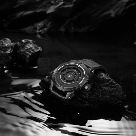 Weide Jam Tangan Analog Pria - UV1708 - Black/Black - 3