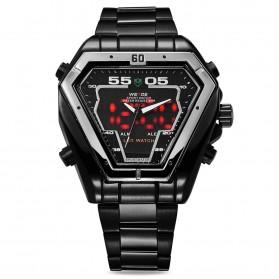 Weide Jam Tangan Analog Digital Pria - WH1102 - Black/Black