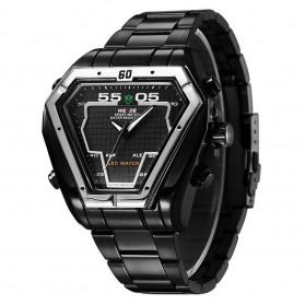 Weide Jam Tangan Analog Digital Pria - WH1102 - Black/Black - 2