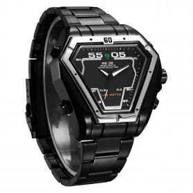 Weide Jam Tangan Analog Digital Pria - WH1102 - Black/Black - 3