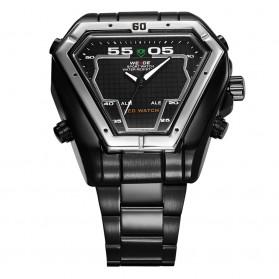 Weide Jam Tangan Analog Digital Pria - WH1102 - Black/Black - 4