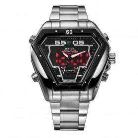 Weide Jam Tangan Analog Digital Pria - WH1102 - Silver Black