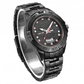 Weide Jam Tangan Analog Pria - SE0706 - Black/Black - 3
