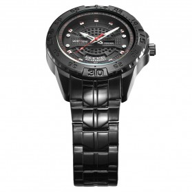 Weide Jam Tangan Analog Pria - SE0706 - Black/Black - 4