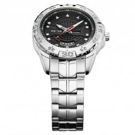 Weide Jam Tangan Analog Pria - SE0706 - Silver Black - 3
