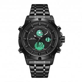 Weide Jam Tangan Digital Analog Pria - WH6906 - Black/Black