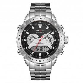 Weide Jam Tangan Digital Analog Premium Stainless Steel Pria - WH8501 - Silver