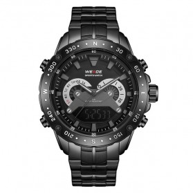 Weide Jam Tangan Digital Analog Premium Stainless Steel Pria - WH8501 - Black