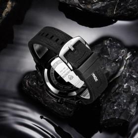 Weide Jam Tangan Digital Analog Pria Strap Silicone - WH7301 - Black/Red - 5