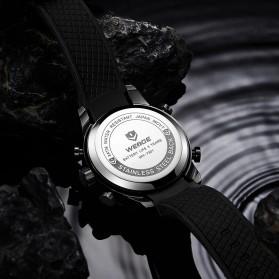 Weide Jam Tangan Digital Analog Pria Strap Silicone - WH7301 - Silver - 4