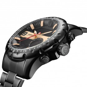Weide Jam Tangan Digital Analog Premium Stainless Steel Pria - WH8502 - Black - 2