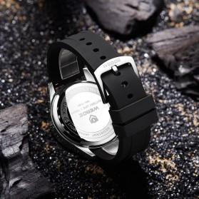 Weide Jam Tangan Digital Analog Pria Strap Silicone - WH7308 - Silver - 5