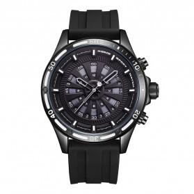 Weide Jam Tangan Digital Analog Pria Strap Silicone - WH7308 - Black