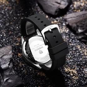 Weide Jam Tangan Digital Analog Pria Strap Silicone - WH7308 - Black - 5
