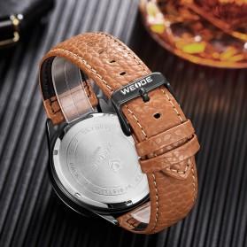 Weide Japan Quartz Leather Strap Men Fashion Watch 30M - WD010 - Black - 3
