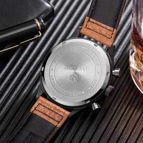Weide Japan Quartz Leather Strap Men Fashion Watch 30M - WD010 - Black - 4