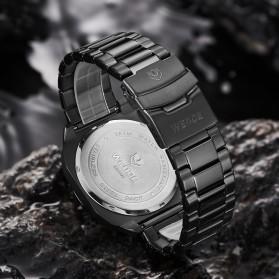 Weide Jam Tangan Analog Pria Strap Stainless Steel - WD009B - Black/Black - 4