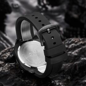 Weide Jam Tangan Analog Pria Strap Silicone - WD009B - Black/Black - 4