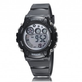 Ohsen Waterproof Digital Sport Watch - AD1508-1 - Black
