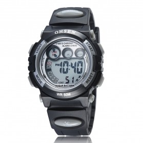 Ohsen Waterproof Digital Sport Watch - AD1509-1 - Black