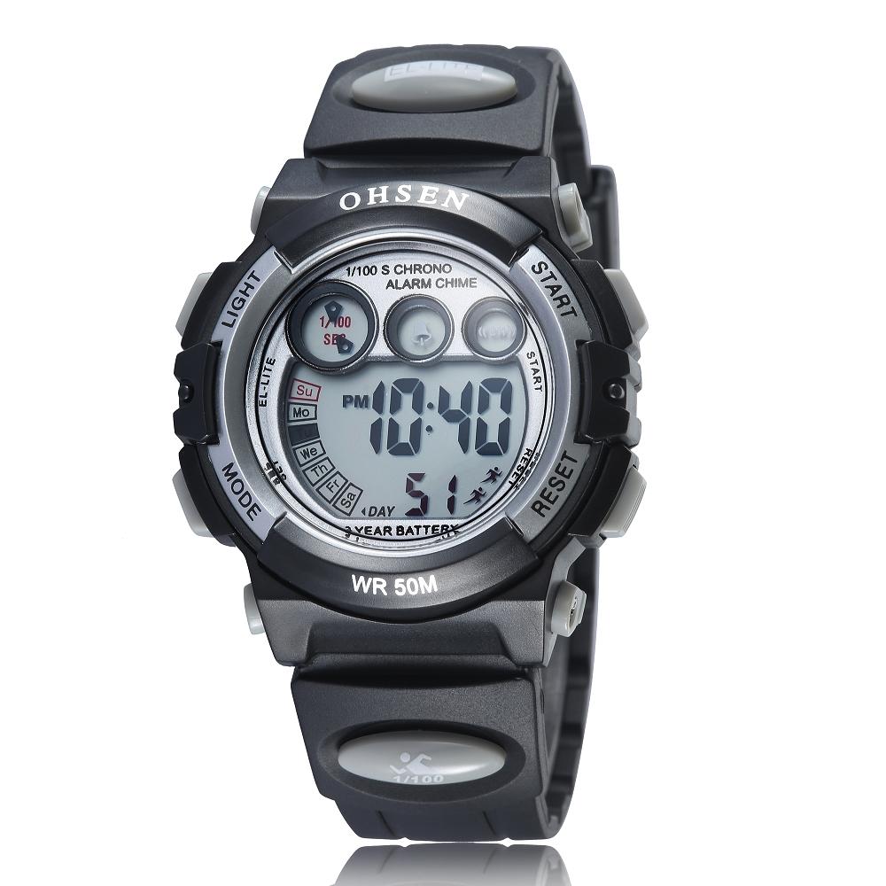 Ohsen Waterproof Digital Sport Watch - AD1509-1 - Black ...