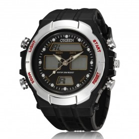 Ohsen Waterproof Quartz Digital Sport Watch - AD0909-1 - Black