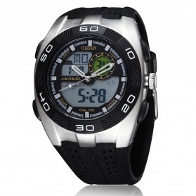 Ohsen Waterproof Quartz Digital Sport Watch - AD0828-1 - Black
