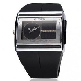 Ohsen Waterproof Quartz Digital Fashion Watch - AD0518-1 - Black
