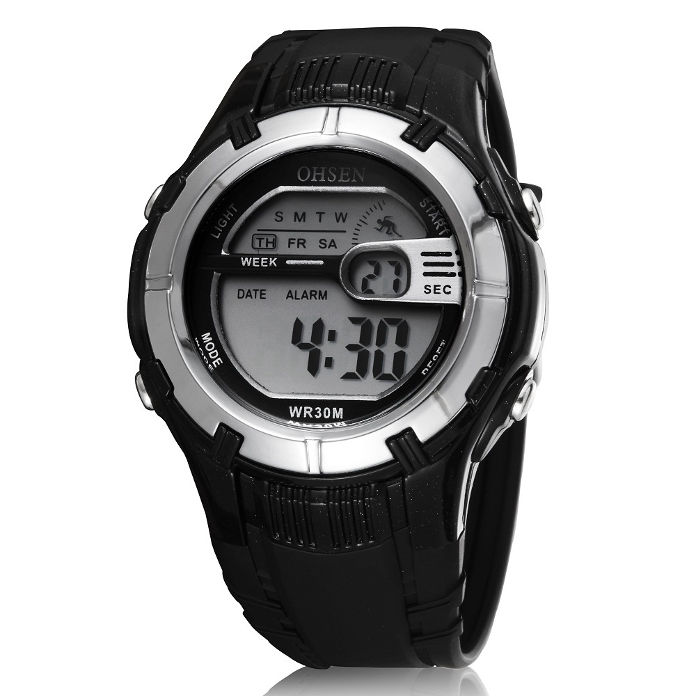 ... Ohsen Waterproof Digital Sport Watch - AD0922 - Black - 1 ... c41c69624d