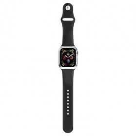 HOCO Ice Crystal Silicone Case + Strap for Apple Watch 42/44mm Series 1/2/3/4 - WB09 - Black - 1