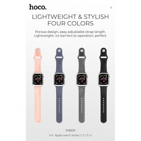 HOCO Ice Crystal Silicone Case + Strap for Apple Watch 42/44mm Series 1/2/3/4 - WB09 - Black - 2
