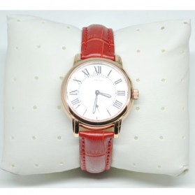 Umeishi Quartz Leather Strap Women Fashion Watch 30M Water Resistance - Q013 - Red - 1