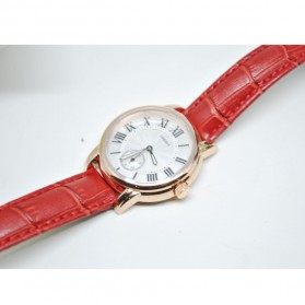 Umeishi Quartz Leather Strap Women Fashion Watch 30M Water Resistance - Q013 - Red - 2