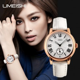 Umeishi Quartz Leather Strap Women Fashion Watch 30M Water Resistance - Q013 - Red - 4