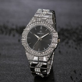 KINGSKY Fashion Quartz Stainless Strap Women Watch 30M Water Resistance - KY101-4 - Silver - 6