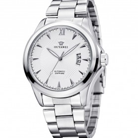 Ouyawei Luxury Men Stainless Steel Automatic Mechanical Watch - OYW1331 - White/Silver - 4