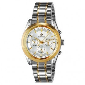 Ouyawei Luxury Men Stainless Steel Automatic Mechanical Watch - OYW1040 - Silver/Gold