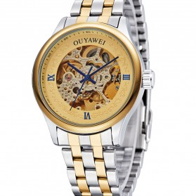 Ouyawei Skeleton Stainless Steel Automatic Mechanical Watch - OYW1330 - Silver/Gold