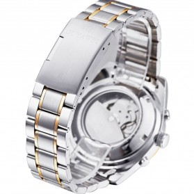Ouyawei Skeleton Stainless Steel Automatic Mechanical Watch - OYW1320 - White/Gold - 5