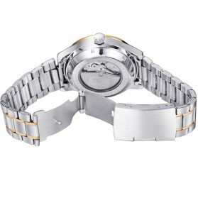 Ouyawei Skeleton Stainless Steel Automatic Mechanical Watch - OYW1320 - White/Gold - 7