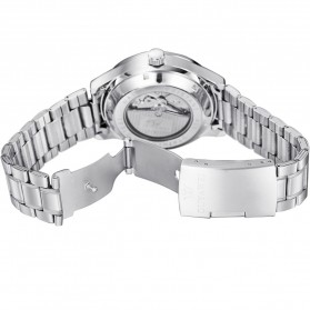 Ouyawei Skeleton Stainless Steel Automatic Mechanical Watch - OYW1320 - White/Silver - 6