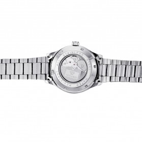Ouyawei Skeleton Stainless Steel Automatic Mechanical Watch - OYW1320 - Silver Black - 5