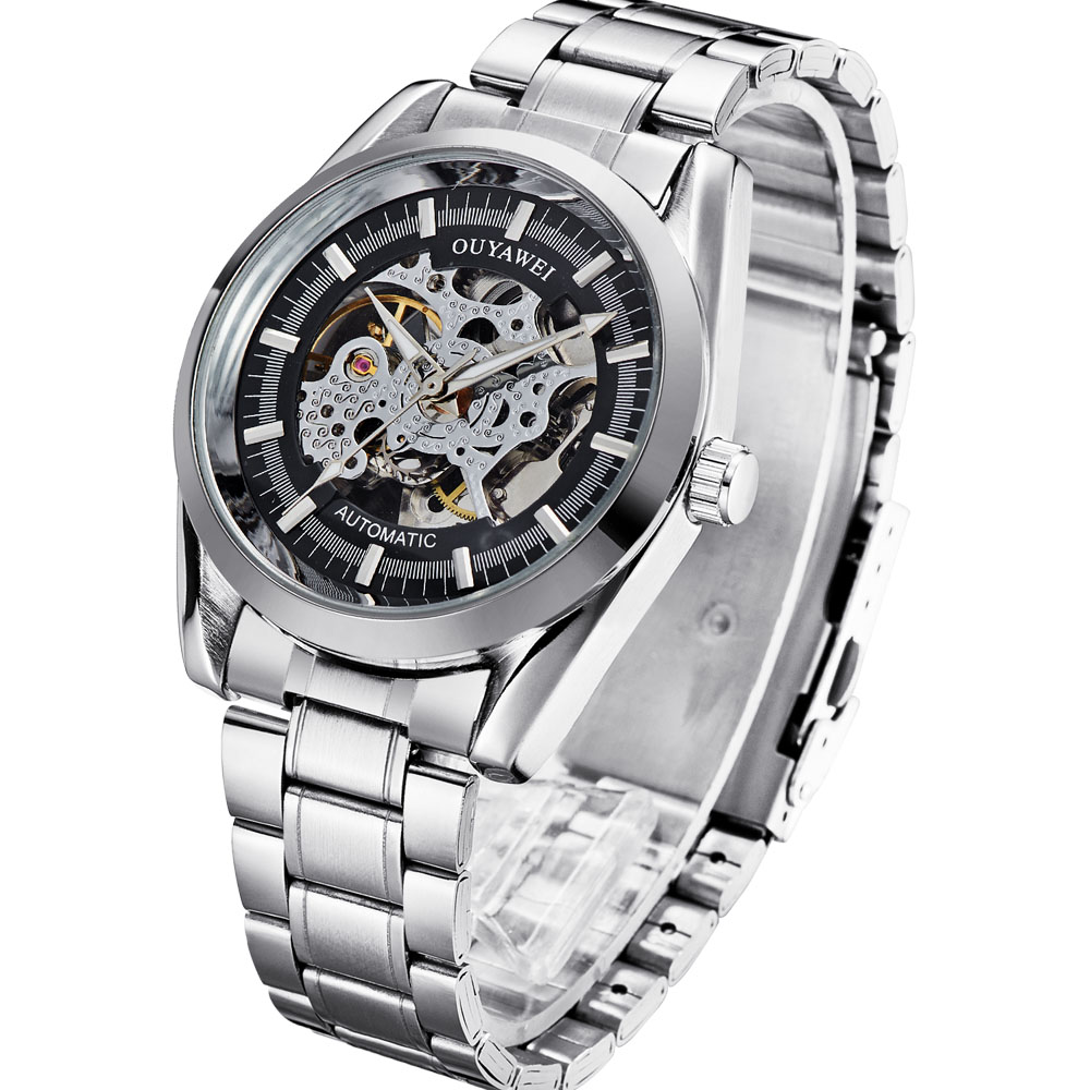 Jam Tangan Pria Automatic Stanlles Steel Daftar Harga Terkini Dan Seiko 5 Sports Mens Srp687k1 Srp687 Silver Stainless Ouyawei Skeleton Mechanical Watch Oyw1320 Black