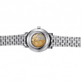Ouyawei Skeleton Stainless Steel Automatic Mechanical Watch - OYW1312 - Silver Black - 6