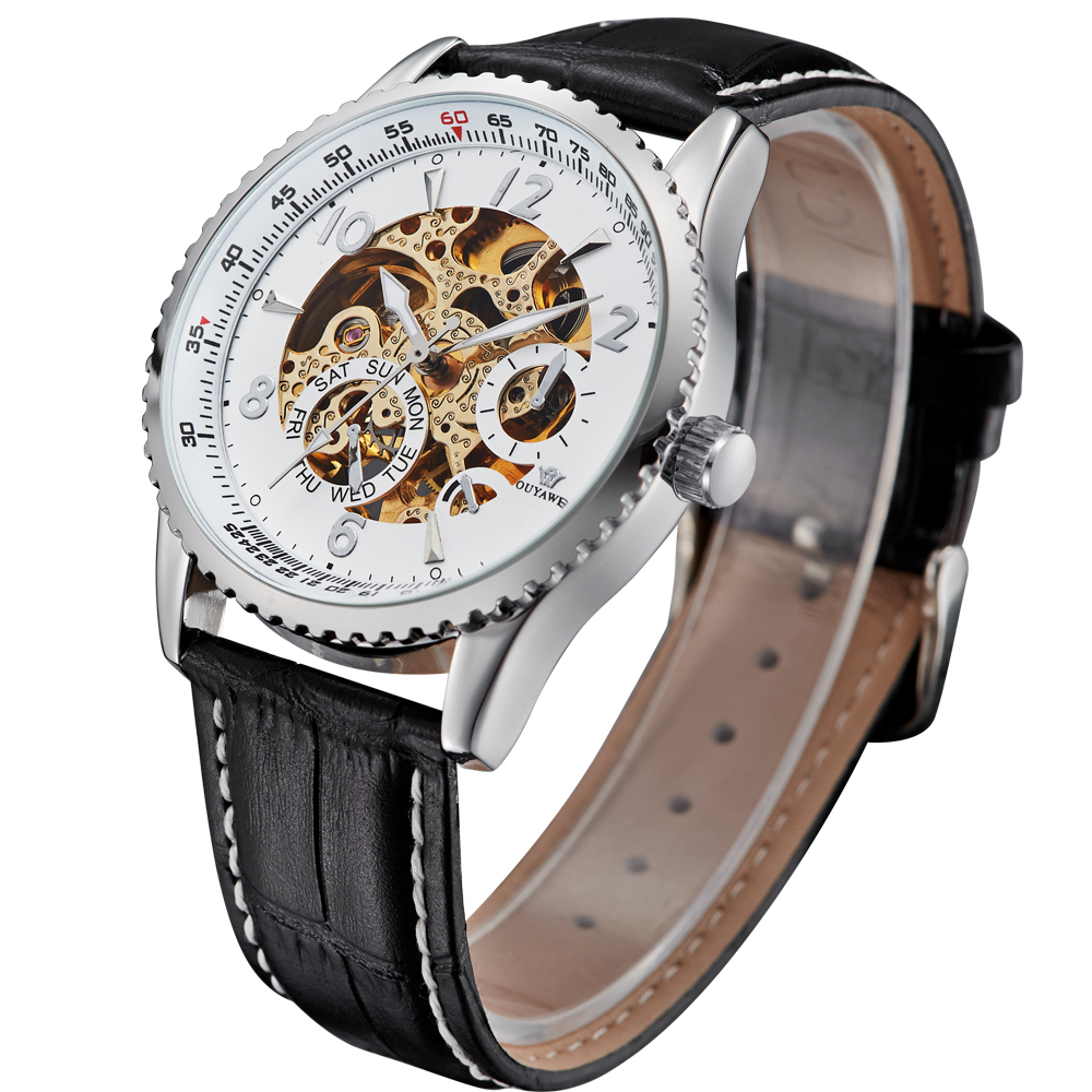 360 Degree Adjustable Screwdriver Angle Bits Kepala Obeng Source · Ouyawei Skeleton Leather Strap Automatic Mechanical