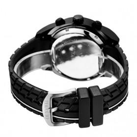 Ouyawei Quartz Silicone Strap Men Sports Watch 30M Water Resistance - OYW1212 - Black/Black - 5