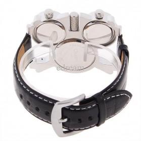 Oulm Mechanical Analog Quartz Men Leather Band Fashion Watch - 1167 - Black/Silver - 4