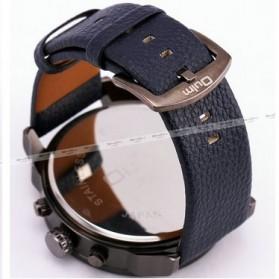Oulm Jam Tangan Analog Leather Strap- 3548 - Black - 4