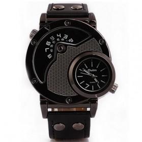Oulm Quartz Men Leather Band Fashion Watch - 9591 - Black - 2